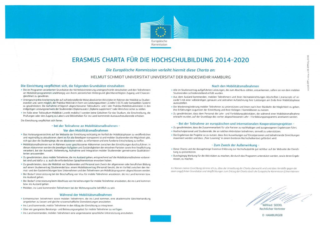 Erasmus Charta für die Hochschulbildung 2014 - 2020