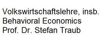 VWL Behavioral Economics