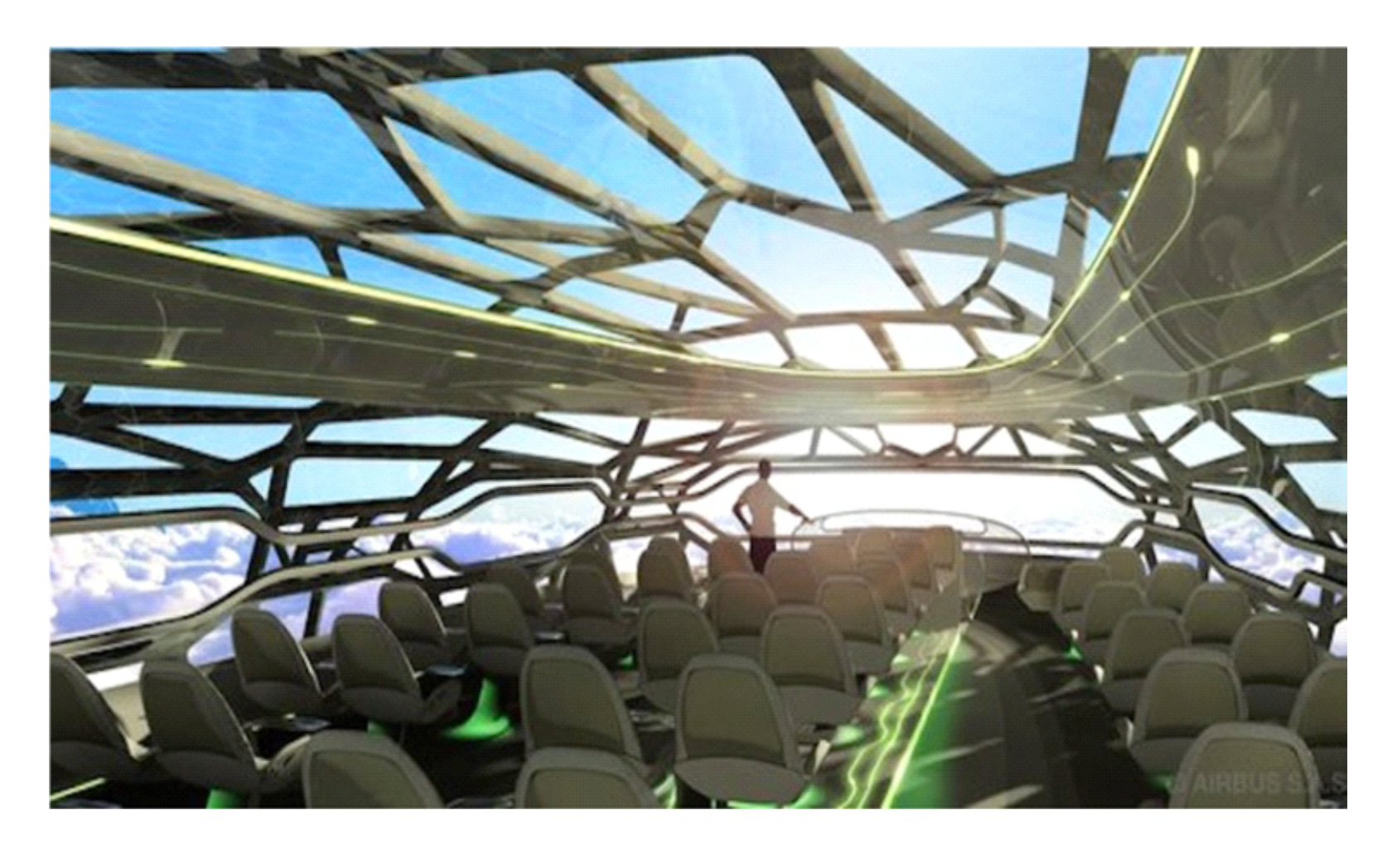 The 3D printed Airbus concept plane, here by 2050