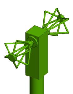 CAE-Modell Antenne