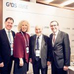 Jennifer Morgan, Geschäftsführerin von Greenpeace international mit Professor Dr. Joseph E. Stiglitz (2.v.r), Espen Barth Eide (r.) und Professor Dr. Stefan Bayer (l.).