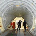 Im Inneren eines Airbus-Rumpf