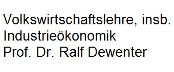Institut für VWL, insb. Industrieökonomik