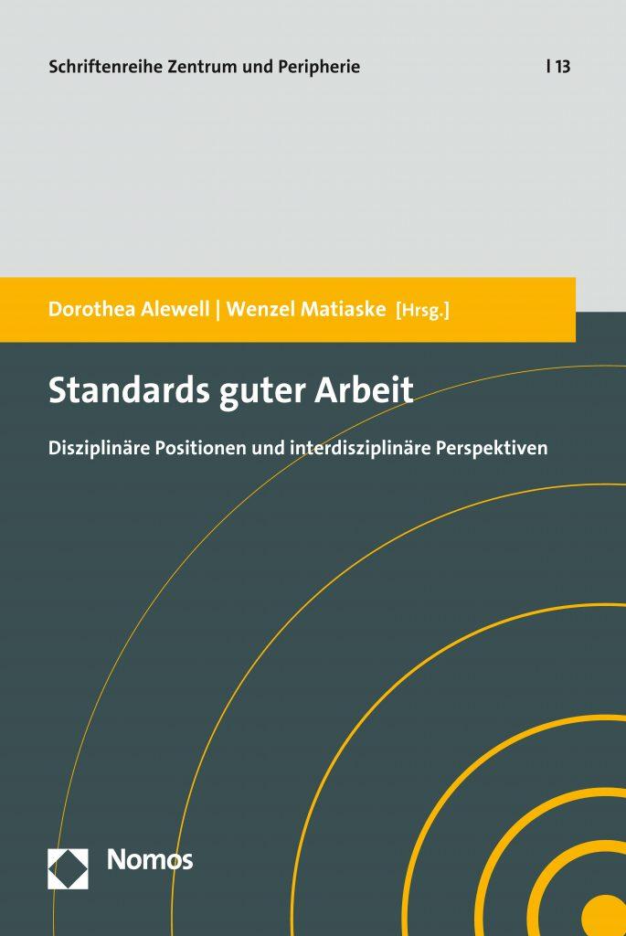 Cover Sammelband Standards guter Arbeit