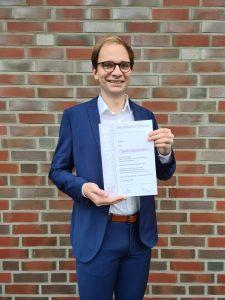 Lennart Hildebrandt Preisträger des Böttcher-Preise