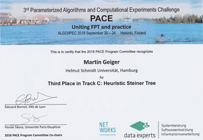 PACE 2018 Certificate