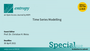"""Entropy Special Issue """"Time Series Modelling"""""""