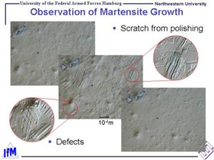 Observation of Martensite Growth