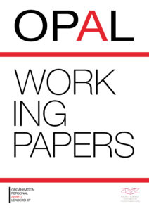 Deckblatt Working Papers