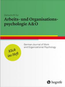 Zeitschrift für Arbeits- und Organisationspsychologie