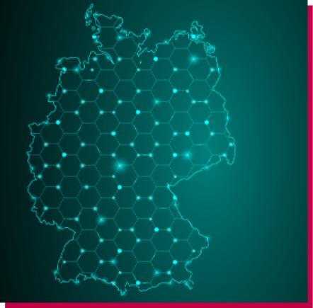 Zeigt den Umriss von Deutschland