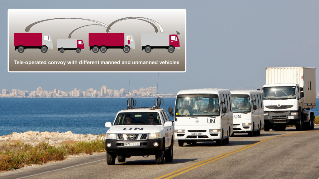 UN Fahrzeuge im Konvoi