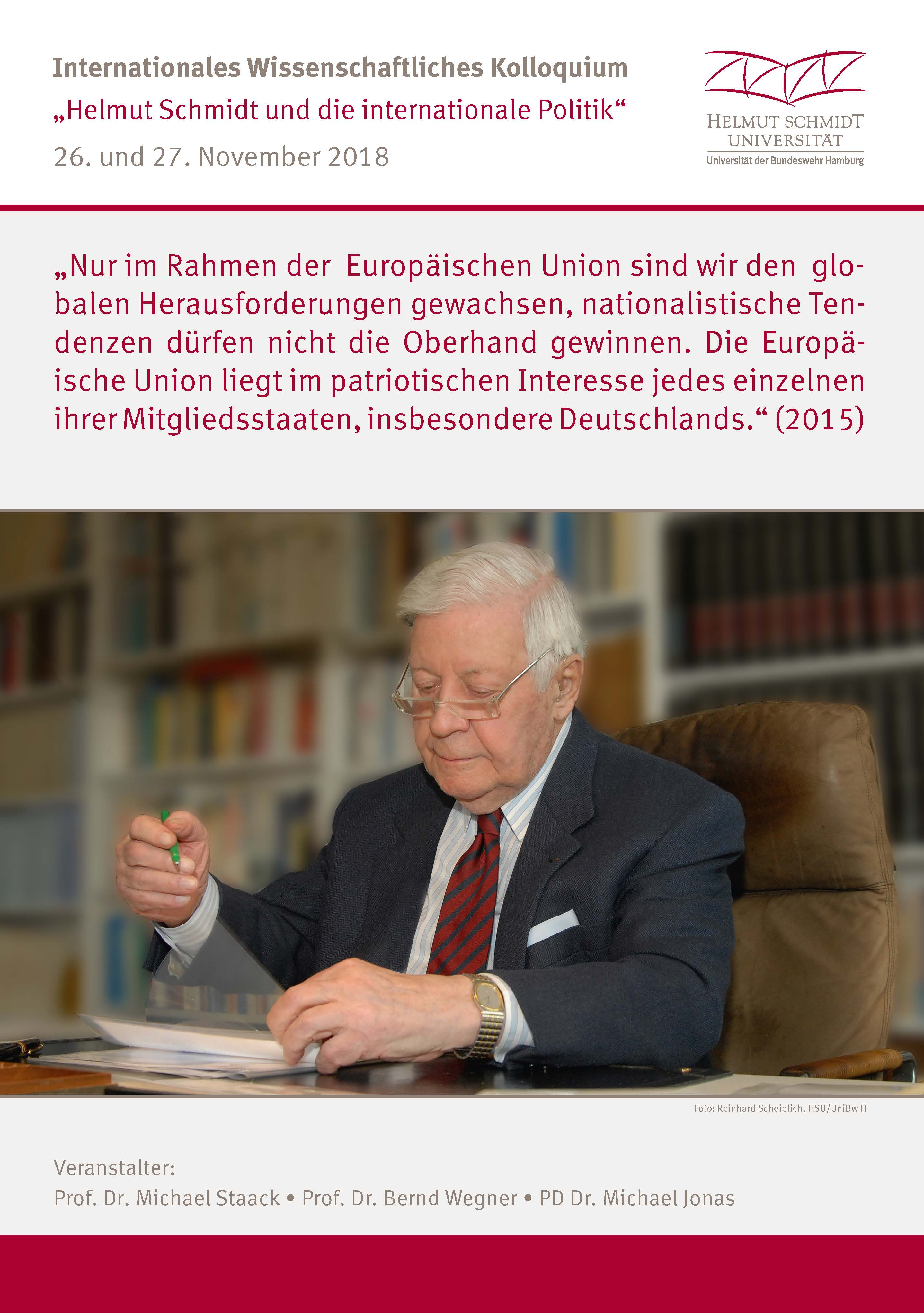 Plakat Helmut Schmidt