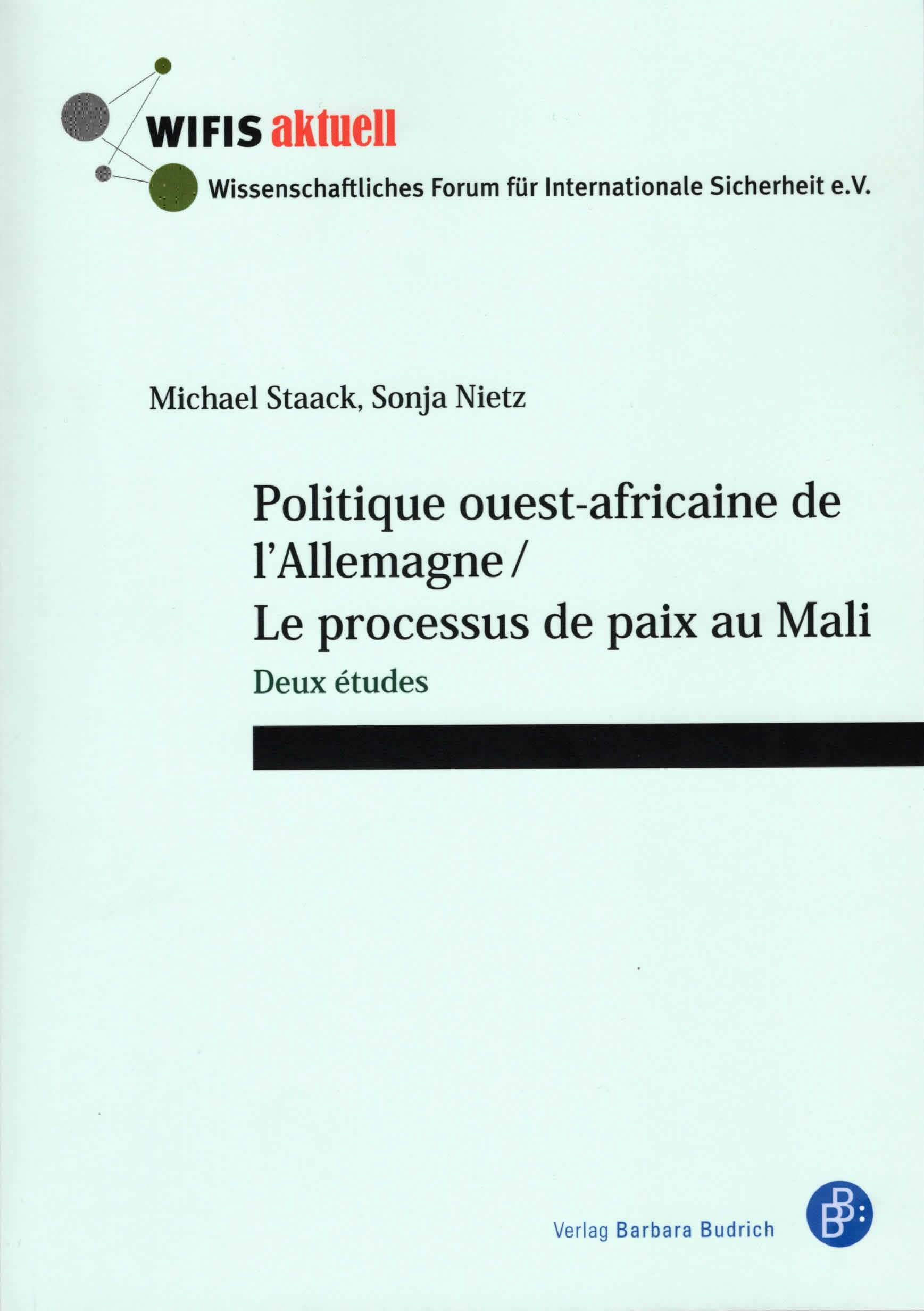 Politique ouest-africaine de l'Allgemagne-Cover