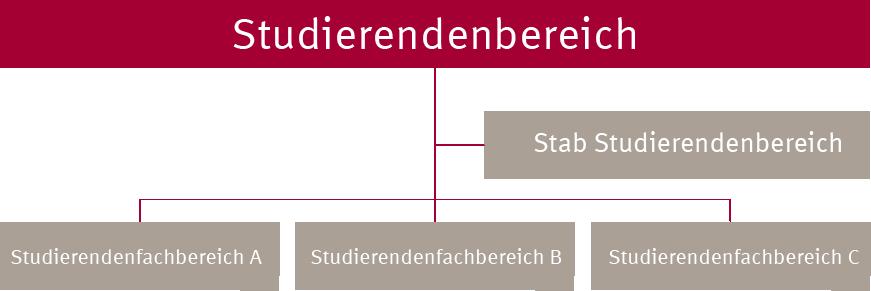 Organigramm Studierendenbereich
