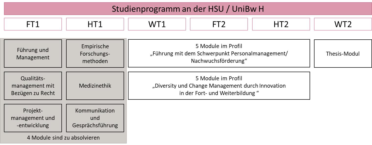 Zentrum für wissenschaftliche Weiterbildung (ZWW) der Helmut-Schmidt Universität / Universität der Bundeswehr Hamburg (HSU / UniBw H), Weiterbildung Master-Studiengang Führung in der Medizin (MFIM)