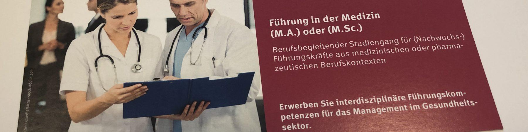 weiterbildender Master-Studiengang Führung in der Medizin am Zentrum für Wissenschaftliche Weiterbildung (ZWW) der Helmut-Schmidt-Universität (HSU / UniBw H)
