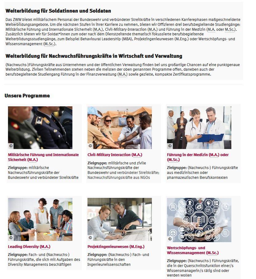Relaunch Website Zentrum für Wissenschaftliche Weiterbildung (ZWW) Hamburg (1)