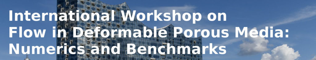 Banner: International Workshop on Flow in Deformable Porous Media: Numerics and Benchmarks