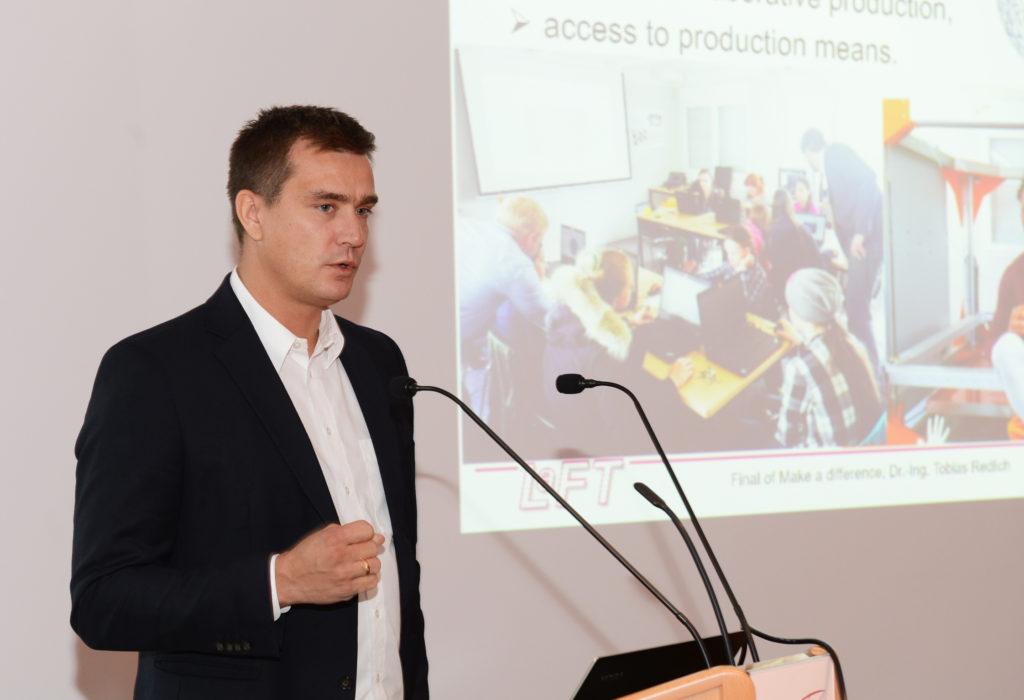 """Dr.-Ing. Tobias Redlich, Initiator des """"Make a Difference""""-Wettbewerbs. (Foto: Reinhard Scheiblich)"""