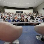 Voller Hörsaal bei SPIEGEL live in der Uni. (Foto: Reinhard Scheiblich)