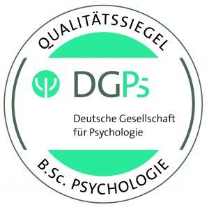 Qualitätssiegel B. Sc. Psychologie der Deutschen Gesellschaft für Psychologie