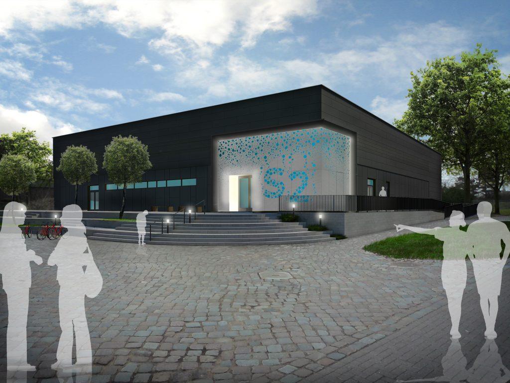 Computergrafik eines Gebäudes mit der Bezeichnung S2