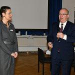 HSU-Präsident Prof. Dr. Klaus Beckmann eröffent gemeinsam mit Initiatorin Prof. Dr. Beatrix Palt das DWT-Symposium.