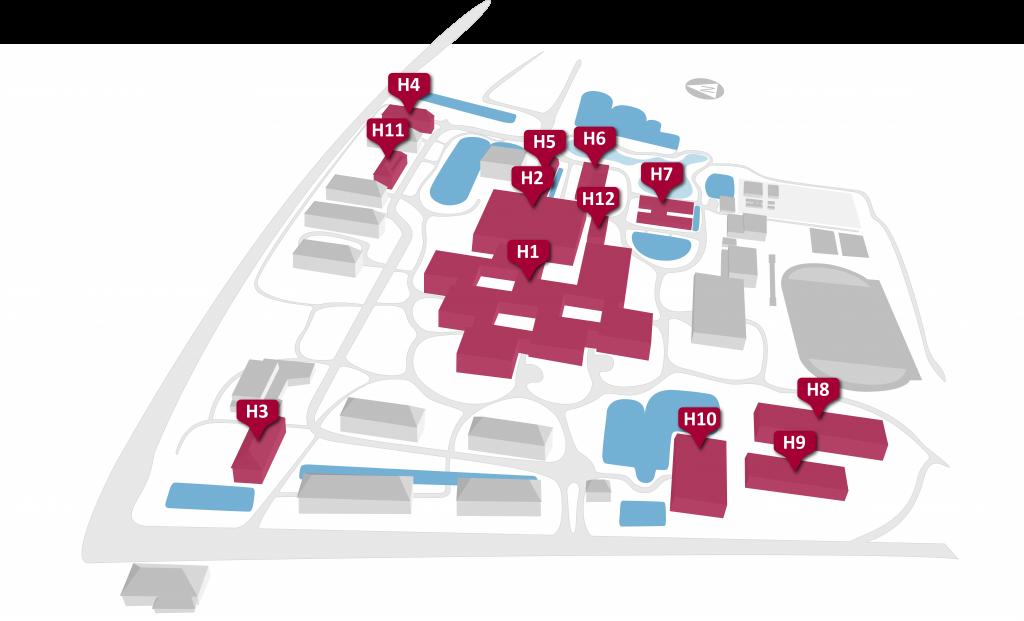 HSU Karte Hochschulgebäude