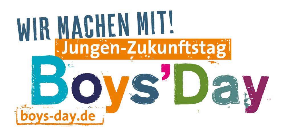 Logo Boys' Day - Jungen-Zukunftstag - Wir machen mit!