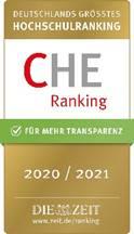 Siegel für die aktive Teilnahme am CHE-Hochschulranking 2020/2021