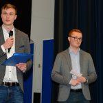 Die Initiatoren des Abends und Mitglieder der IG-Sicherheitspolitik an der HSU: Pascal du Hamél und Anthony Müller.