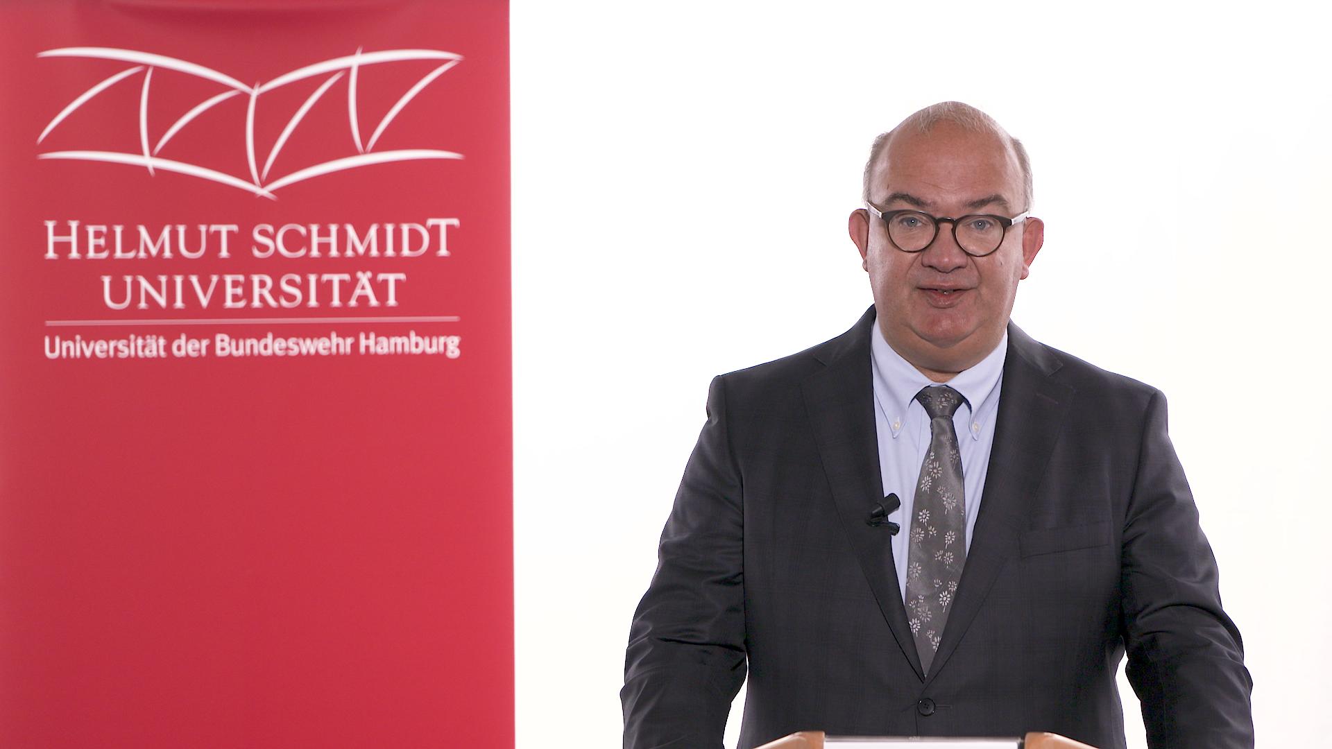COVID-19-Shutdown der HSU: Videobotschaft des Universitätspräsidenten vom 07.07.2020